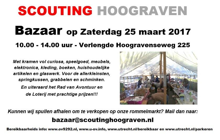 a400269adae2a2 De Bazaar van Scouting Hoograven staat gepland op zaterdag 25 maart.